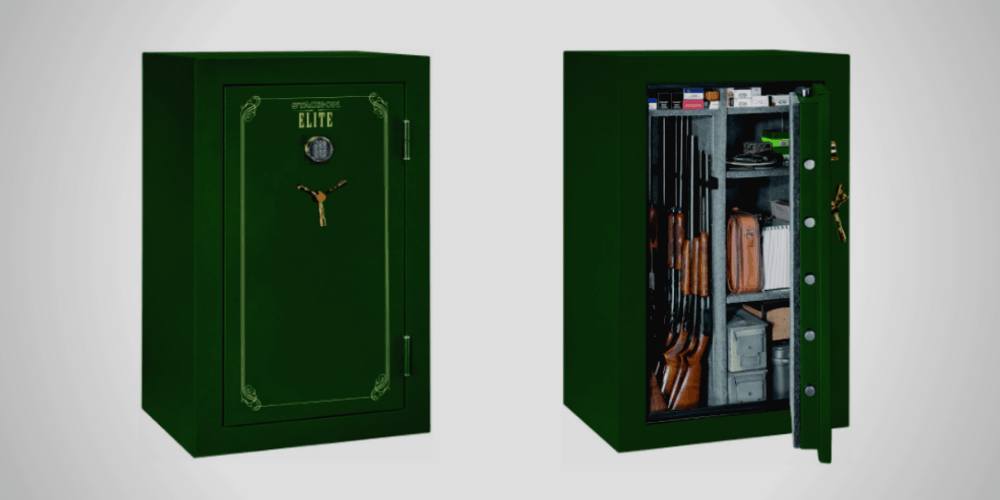 Stack-On E-36-MG-E Elite 36 Gun Security Safe in Matte Hunter Green